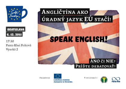 AktualityDebata: Angličtina ako úradný jazyk EÚ stačí