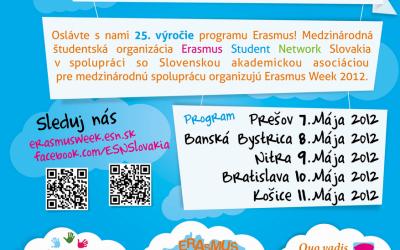 Erasmus má 25 rokov a oslavuje!