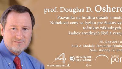 Nositeľ Nobelovej ceny príde na Slovensko
