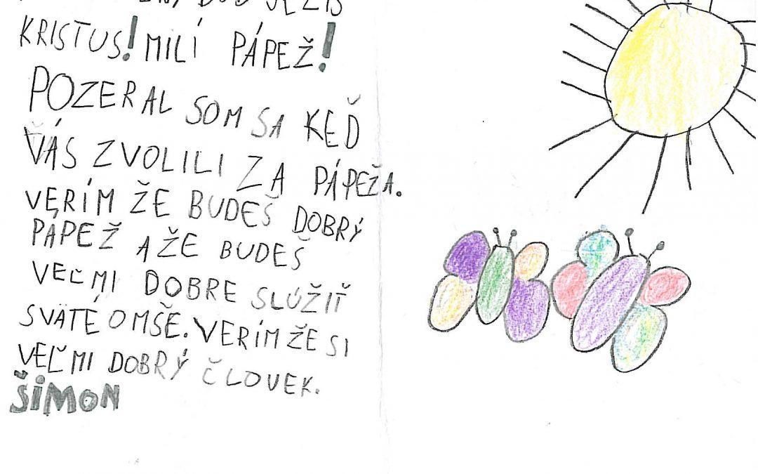 AktualityPozdravy od slovenských detí odovzdajú priamo pápežovi