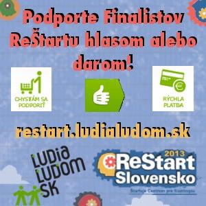 InformáciePodporte nápady, ktoré reštartujú Slovensko