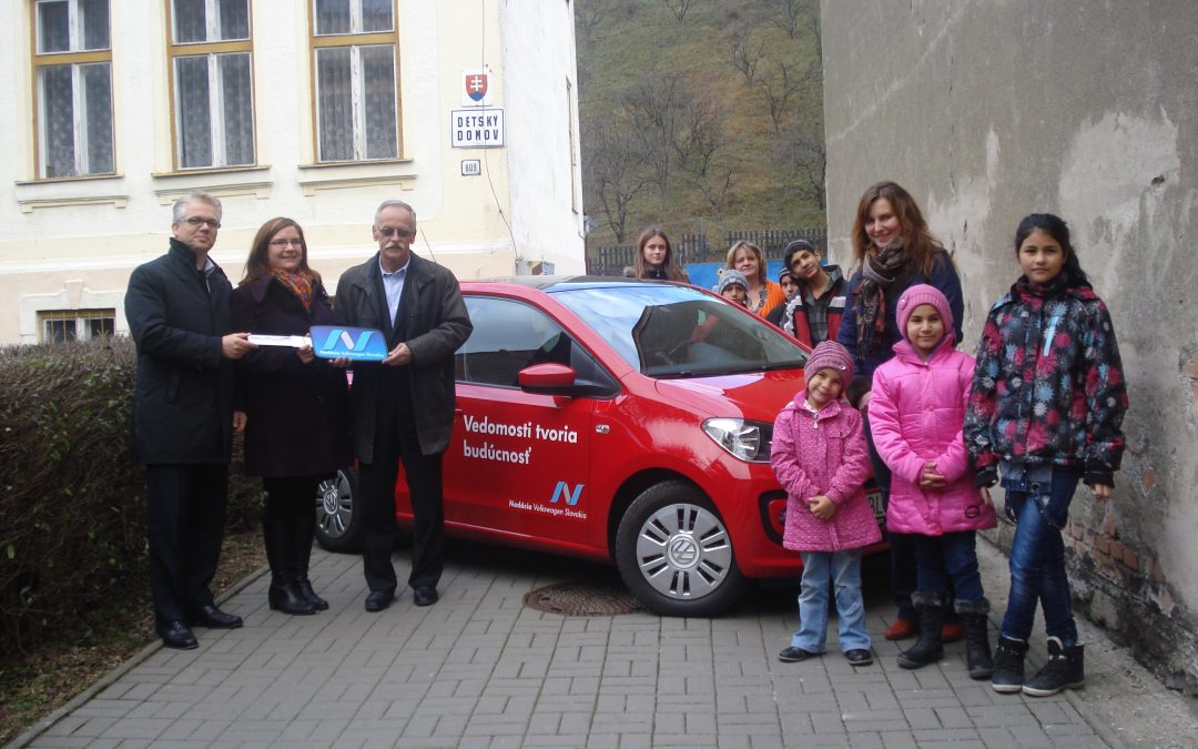 AktualityDeti z detského domova v Dobšinej vyhrali Volkswagen up!