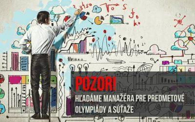 IUVENTA hľadá projektového manažéra pre predmetové olympiády a súťaže