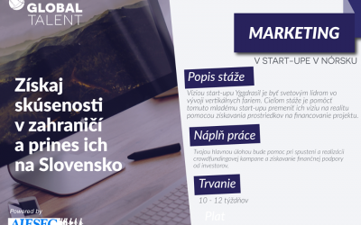 Stáž v start-up-e v Nórsku