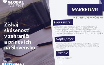 Stáž v start-up-e v Nórsku