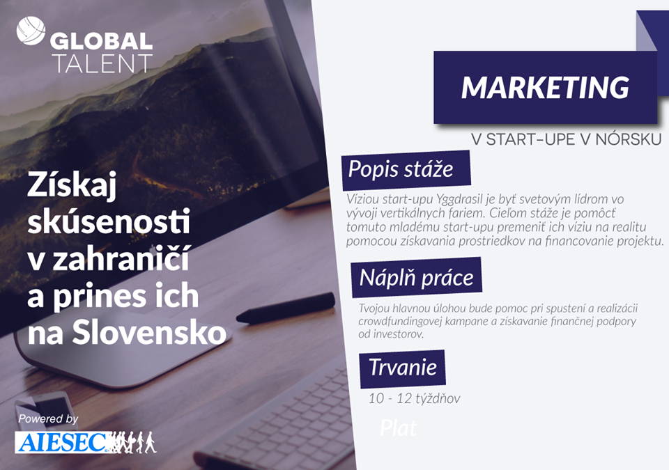 PonukyStáž v start-up-e v Nórsku