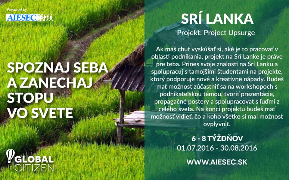 PonukyProjekt Upsurge-Srí Lanka