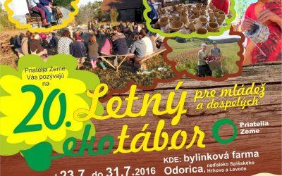 Ekotábor Priateľov Zeme-SPZ 2016