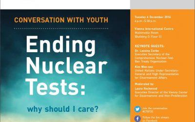 Diskusia na tému ukončenia jadrových testov