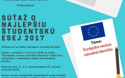 Súťaž o najlepšiu študentskú esej 2017