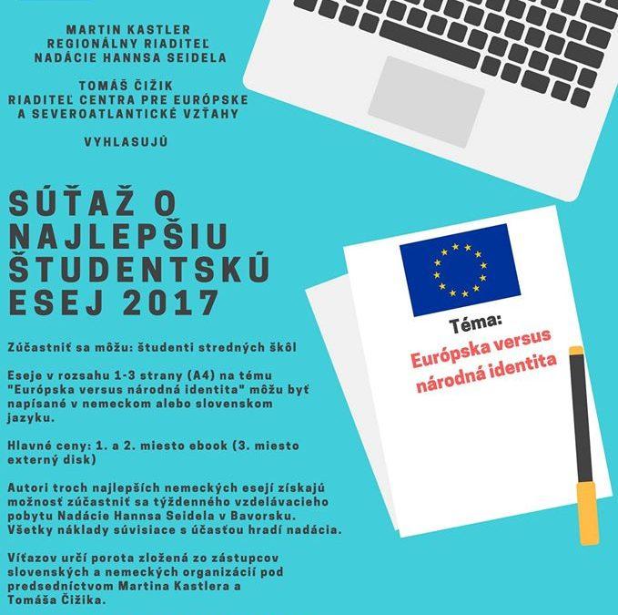 PonukySúťaž o najlepšiu študentskú esej 2017