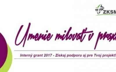 Výsledky internej grantovej výzvy ZKSM na rok 2017