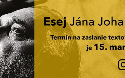 """8. ročník súťaže pre stredoškolákov – """"Esej Jána Johanidesa"""""""