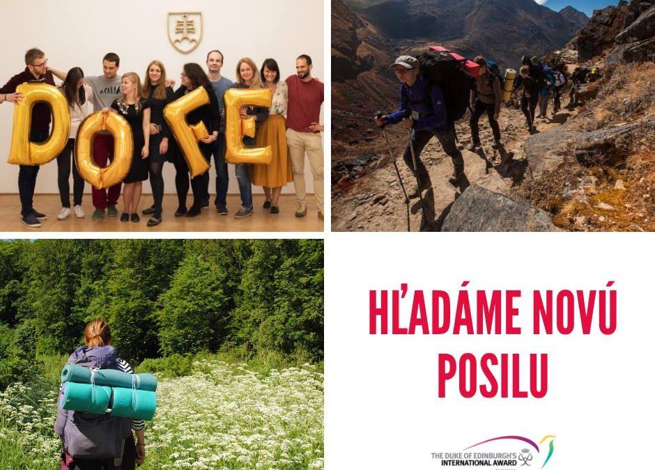 PonukyHľadá sa manažérka/manažér vzdelávacieho programu pre DofE Slovensko