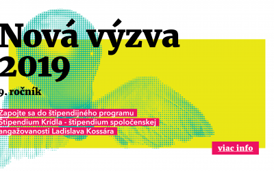 """Štipendium – """"Krídla 2019"""""""