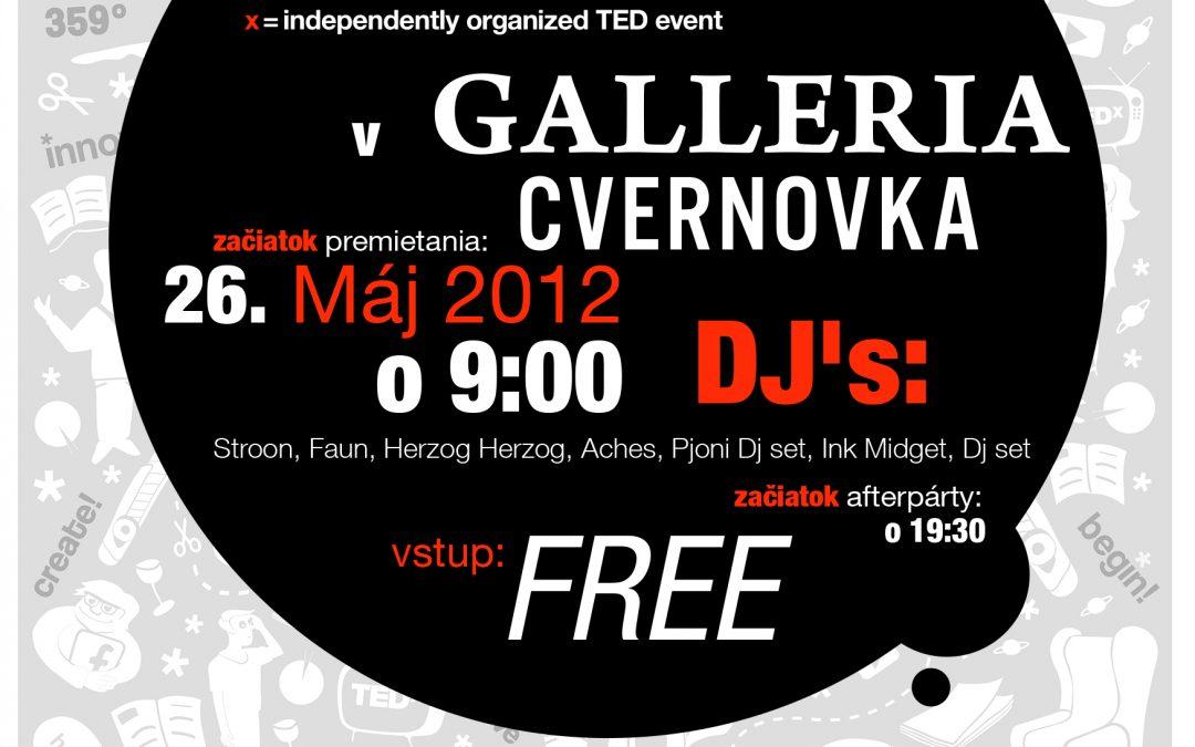 InformácieSleduj konferenciu TEDxBratislava v Cvernovke