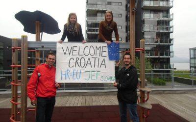 Kampaň JEF SLovakia ku vstupu Chorvátska do Európskej únie