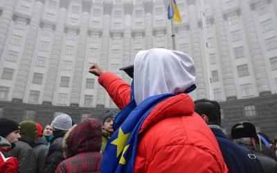 Mladí priatelia Európy podporujú proeurópskym protestom v Ukrajine