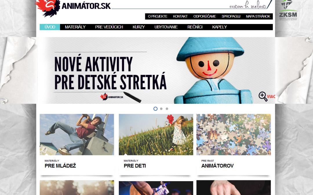 InformácieStránka pre mladých animátorov v novom šate