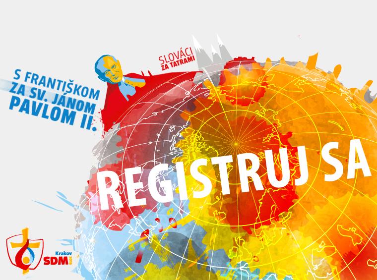 InformácieZačala oficiálna slovenská registrácia na Svetové dni mládeže do Krakova