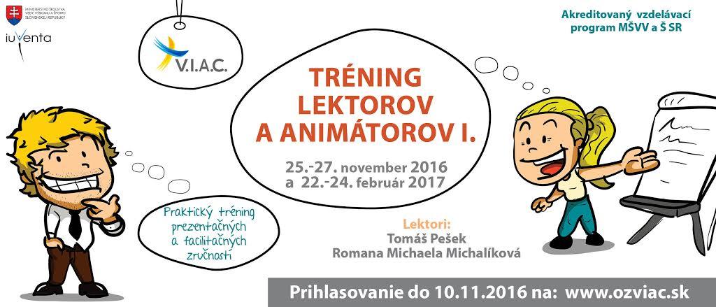 InformácieTréning lektorov a animátorov I