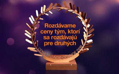 """Nominácie mimovládnych organizácií """"Cena Nadácie Orange"""""""
