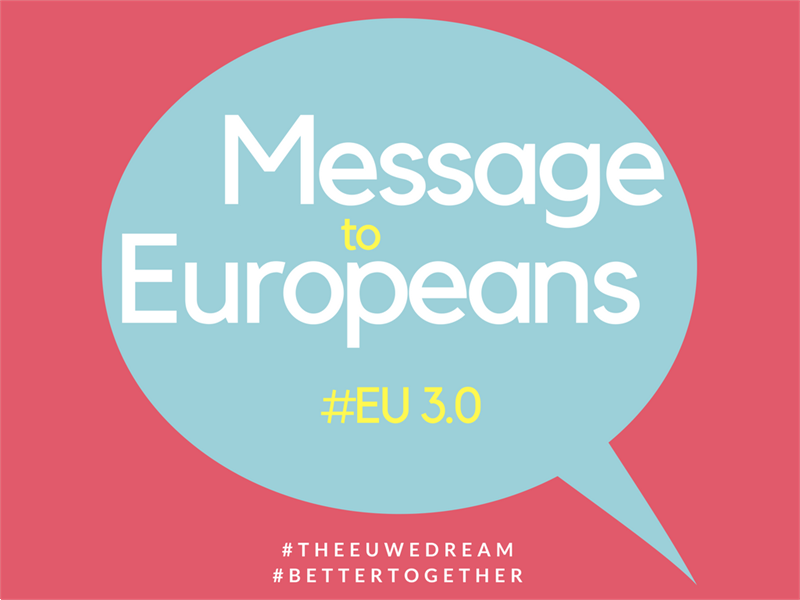 "PonukyProjekt – ""Message to Europeans 3.0."""