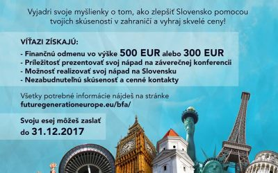 "Súťaž – ""Back from abroad"""