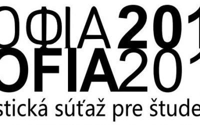 """Esejistická súťaž pre študentov stredných škôl – """"SOFIA 2018"""""""
