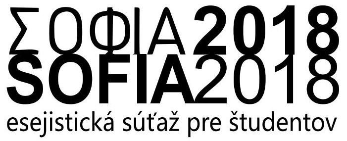 """PonukyEsejistická súťaž pre študentov stredných škôl – """"SOFIA 2018"""""""