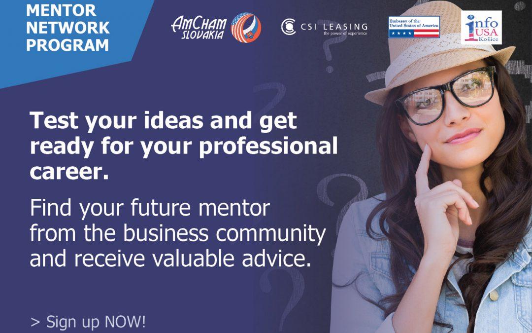 "PonukyMentoringový program – ""Mentor Network Program 2018"""