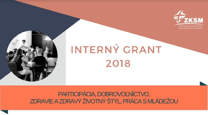 InformácieSpoločenstvá môžu aj tento rok využiť Interný grant od ZKSM