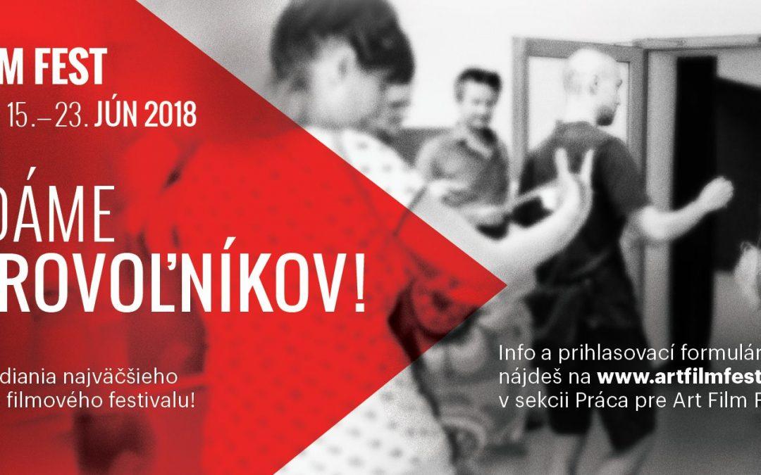 PonukyPoď robiť dobrovoľníčku/dobrovoľníka na Art Film Fest Košice 2018!