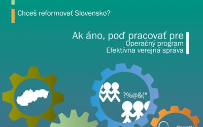Voľné pracovné pozície v rámci Operačného programu Efektívna verejná správa