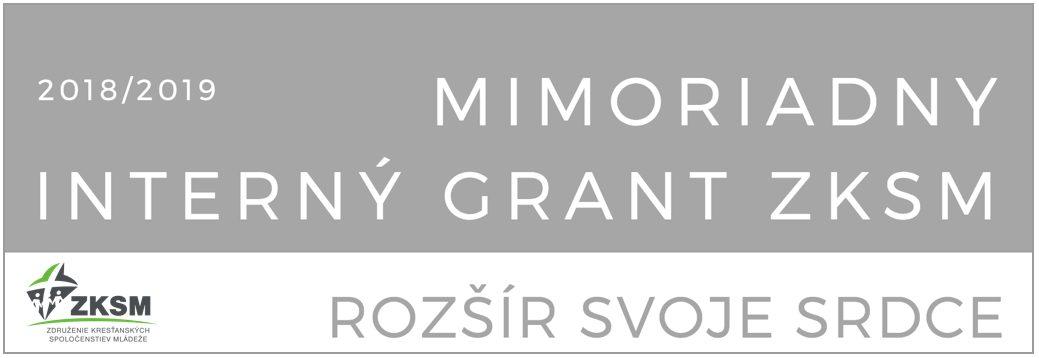 InformácieZKSM vyhlásilo mimoriadnu grantovú výzvu pre spoločenstvá s názvom Rozšír svoje srdce