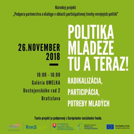 PonukyKonferencia: Politika mládeže tu a teraz!