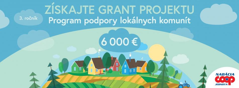 """PonukyGrantová výzva """"Program podpory lokálnych komunít"""""""