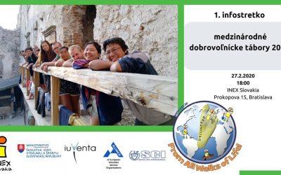 INEX Infostretko – medzinárodné dobrovoľnícke tábory 2020
