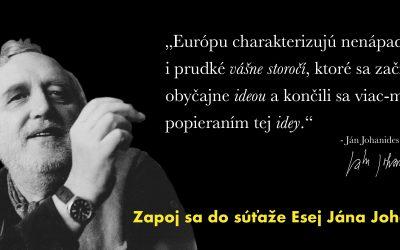 """10. ročník súťaže pre stredoškolákov – """"Esej Jána Johanidesa"""""""