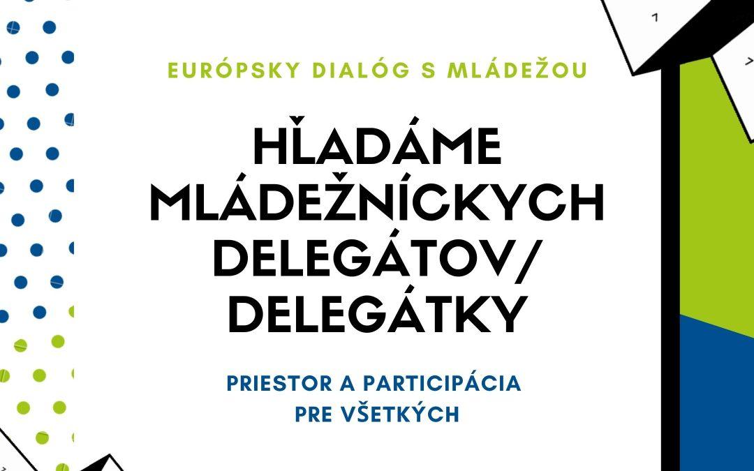 PonukyHľadáme mládežníckych delegátov/ delegátky VIII. cyklu EDM